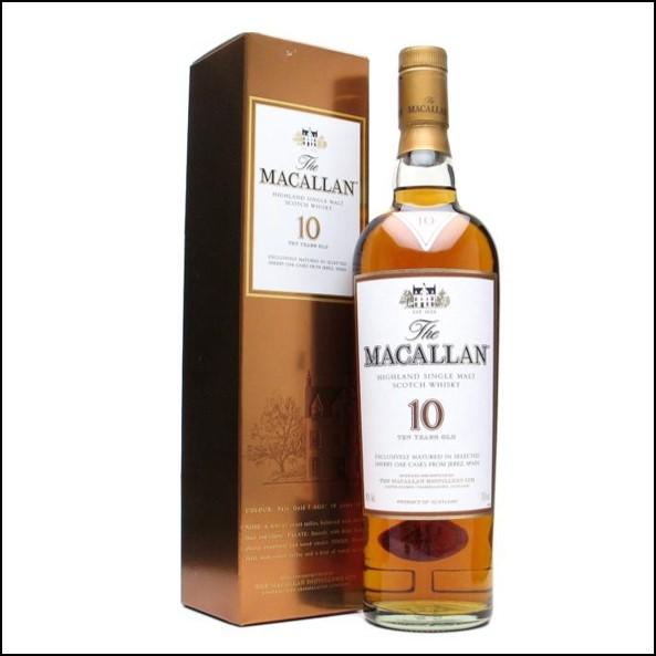 收購麥卡倫10年 雪莉桶曼妙瓶/Macallan 10 Year Old Sherry Oak 70cl 40%