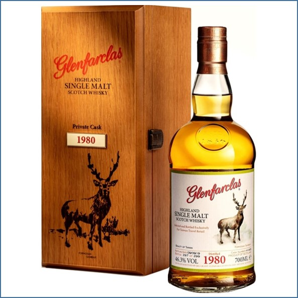 Glenfarclas The Beauty of Taiwan Formosan Sambar 39 Year Old 1980  2019  private cask #1415 70cl 46.3%