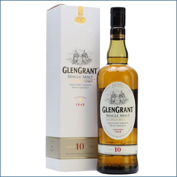Glen Grant 10 Year Old Old Presentation Speyside Single Malt Scotch Whisky 70cl 40%