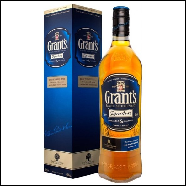Grant's Signature Cutie Cadou Blended Scotch Whisky 70cl 40%