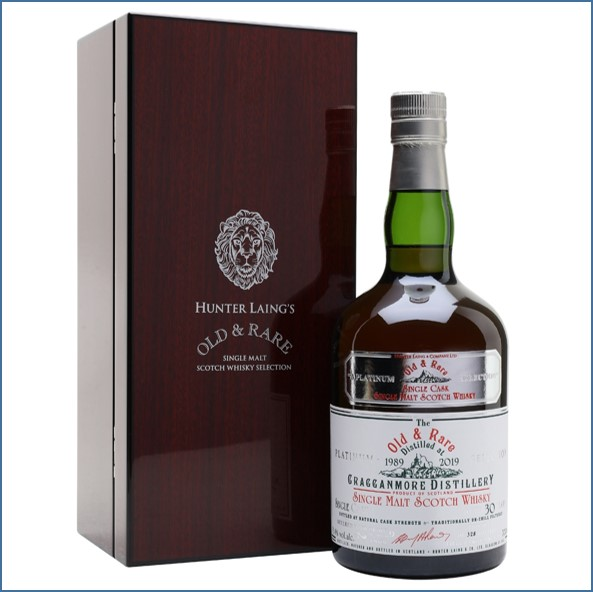 Cragganmore 1989 30 Year Old Old & Rare Speyside Single Malt Scotch Whisky Hunter Laing 70cl 51.4%