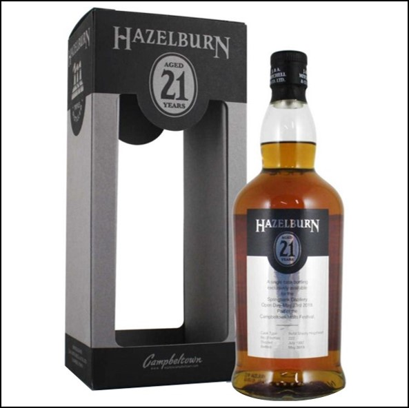 Hazelburn 21 Year Old 1997-2019 Campbeltown Single Malt Scotch Whisky 70cl 46%