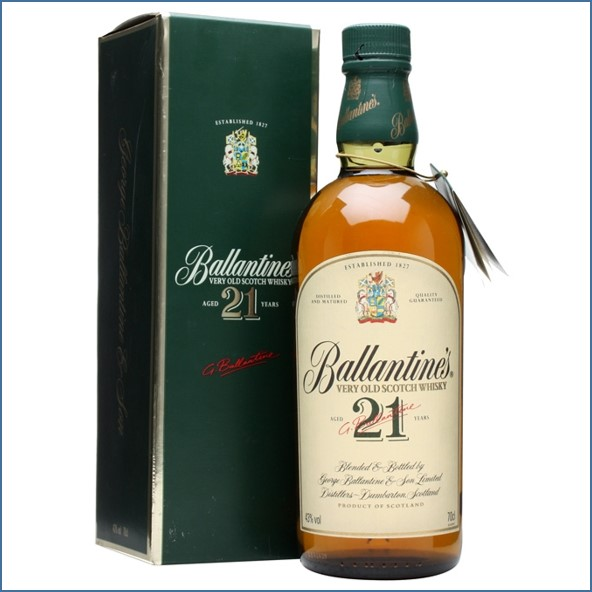 Ballantine's 21 Year Old Old Presentation Blended Scotch Whisky 70cl 43%