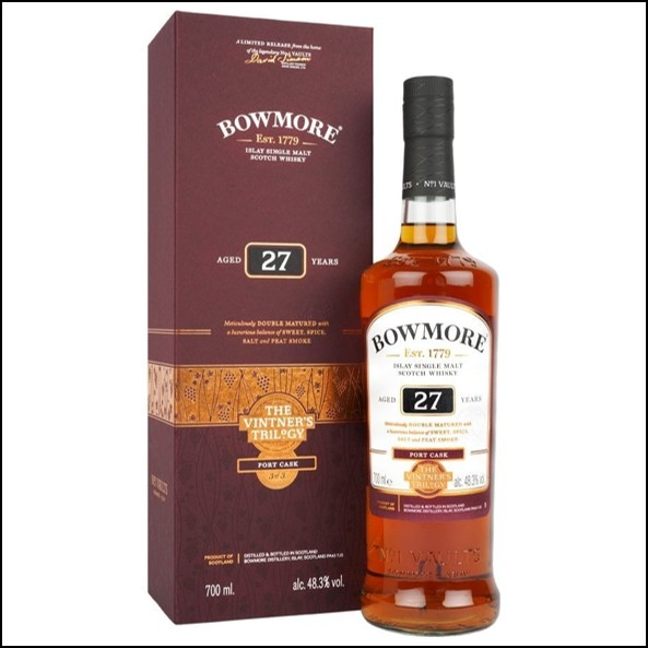 Bowmore 27 Year Old - Port Cask - Vintners Trilogy 70cl 48.3%