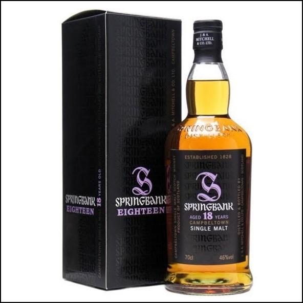 雲頂威士忌18年收購/Springbank 18 Years Old Campbeltown Single Malt Scotch Whisky 70cl 46%