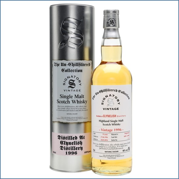 Clynelish 1996 19 Year Old 2016 Signatory Highland Single Malt Scotch Whisky 70cl 46%