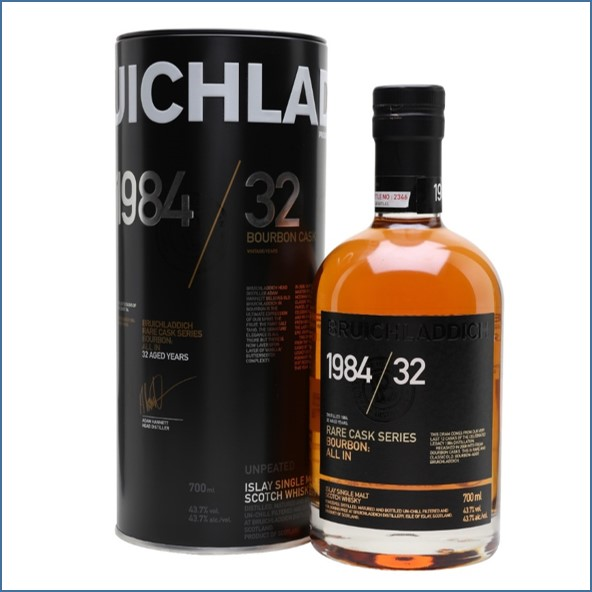 Bruichladdich 32 Year Old 1984 All In  Rare Cask Series 70cl 43.7%