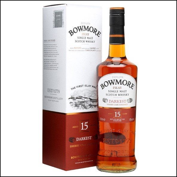 Bowmore 15 Year Old Darkest 70cl 43% Bourbon + Oloroso Sherry Finish