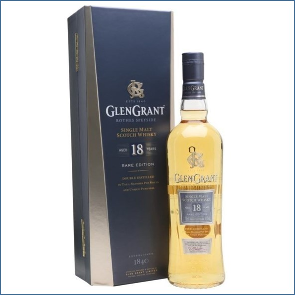 Glen Grant 18 Year Old Speyside Single Malt Scotch Whisky 70cl 43%