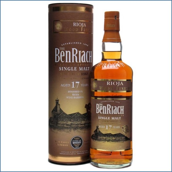 Benriach 17 Year Old Rioja Wood Finish 70cl 46% 班瑞克17年利奧哈換桶
