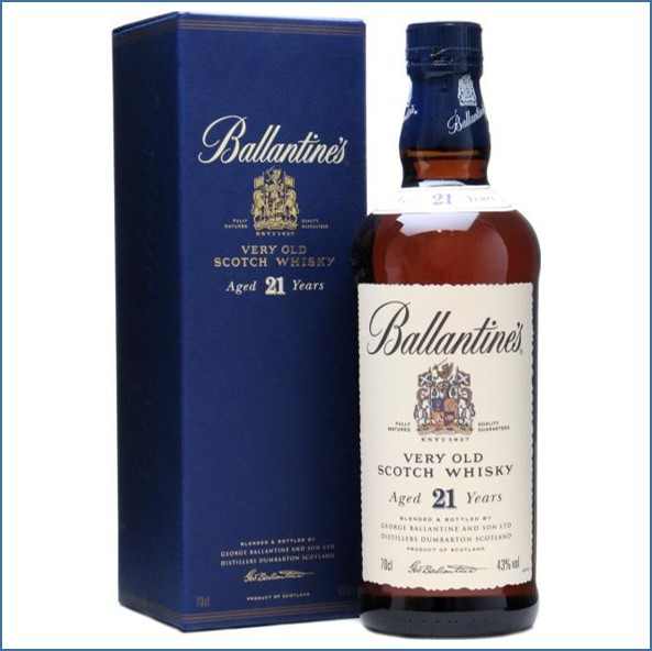 Ballantine's 21 Years Old Blended Scotch Whisky 70cl 43%