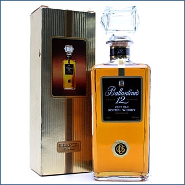 Ballantine's Decanter 12 Year Old Blended Scotch Whisky 75cl 43%