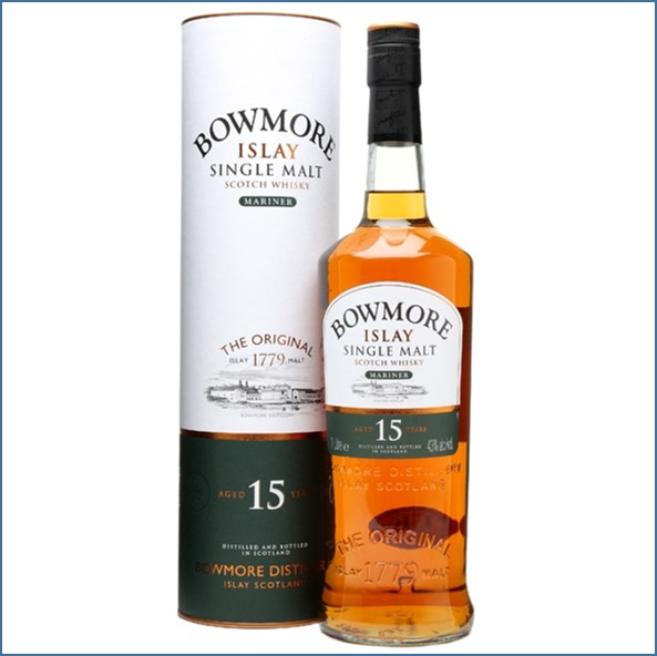 Bowmore 15 Year Old Mariner 100cl 43%