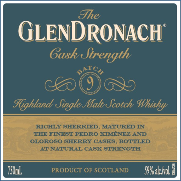 Glendronach Cask Strength Batch 9 70cl 59%