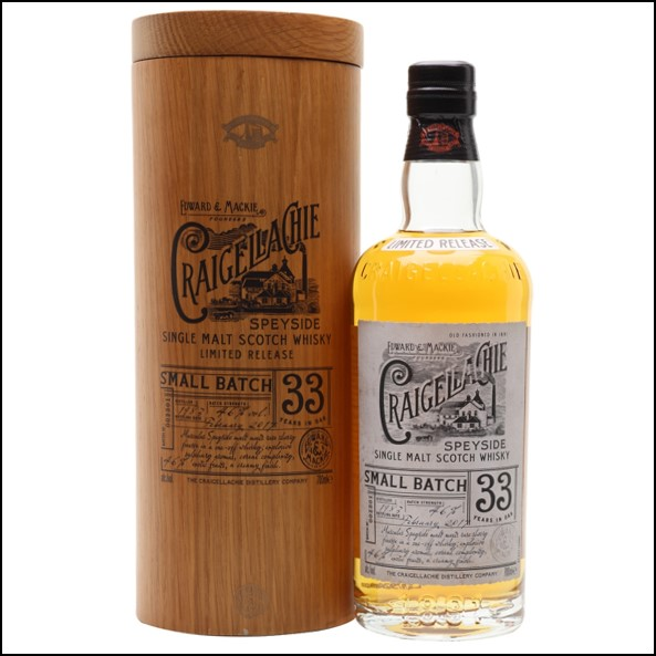 Craigellachie 33 Year Old 1983 Speyside Single Malt Scotch Whisky 70cl 46%