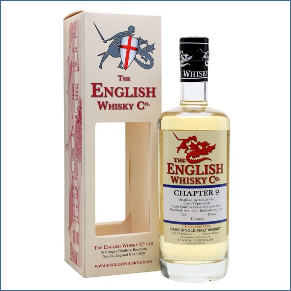 English Whisky Co. Chapter 9  2013 Peated 70cl 46%