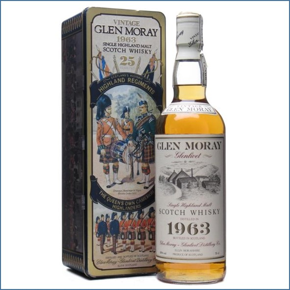 Glen Moray 25 Year Old 1963 Bottled for Air Nippon 75cl 43%