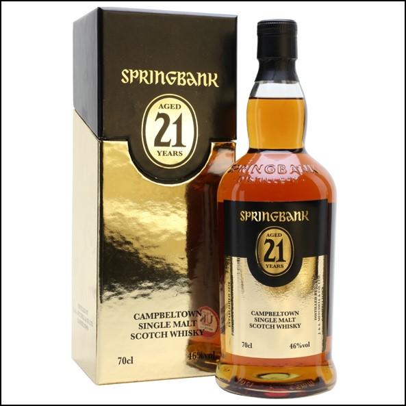 雲頂威士忌21年收購/Springbank 21 Year Old - 2013,2015,2016 Release Campbeltown Single Malt Scotch Whisky 70cl 46%