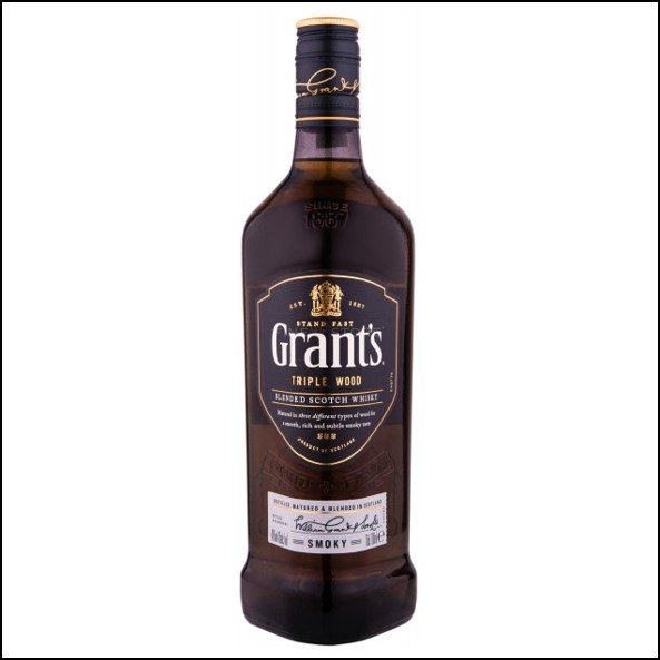 Grant's Triple Wood Smoky Blended Scotch Whisky 70cl 40%