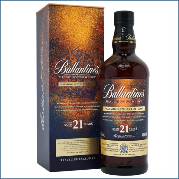 Ballantines 21 Year Old  Warming Spices Blended Scotch Whisky 70cl 40%