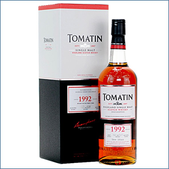 Tomatin 1992 Single Oloroso Cask 20 Year Old 70cl 53.9%