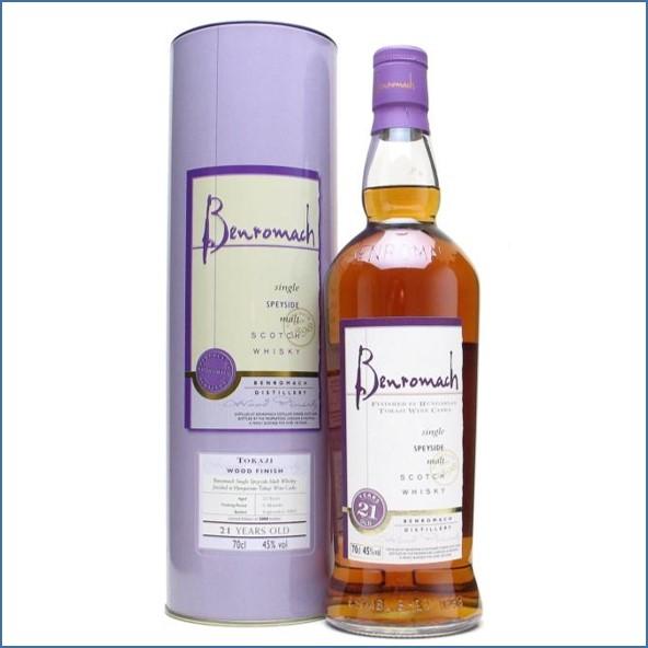 收購百樂門21年威士忌,百樂門21年威士忌收購, Benromach 21 Year Old Tokaji Wood Finish 70 cl 45%