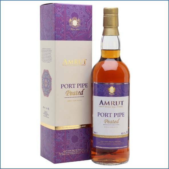 Amrut Peated Port Pipe LMDW Exclusive Indian Single Malt Whisky 70cl 62.8%