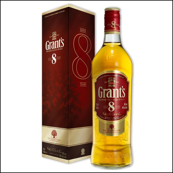 Grant's 8 Years Old Blended Scotch Whisky 70cl 40%