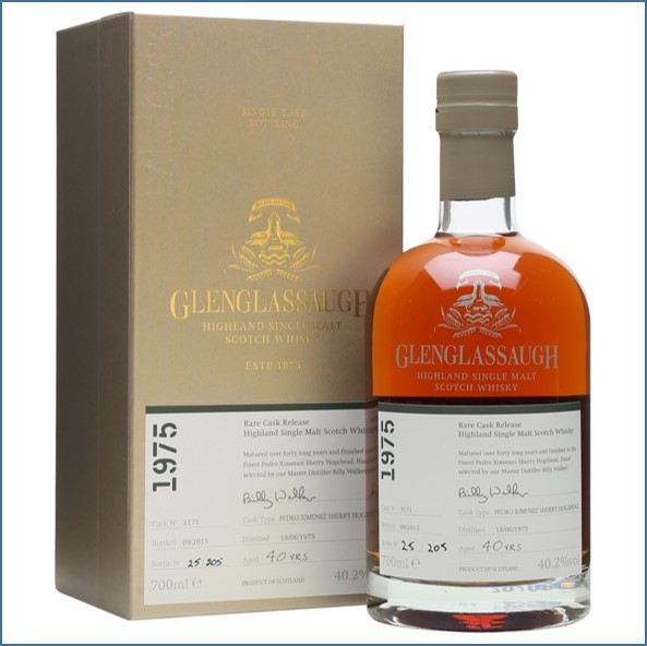 Glenglassaugh 1975 Cask No. 3171 40 Year Old PX Sherry Finish Rare Cask Release Batch 2 70cl 40.2%