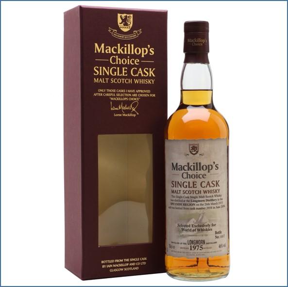 Longmorn 1975 33 Year Old Cask #3958 Mackillop's 70cl 46%
