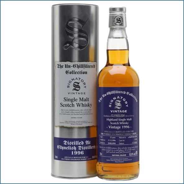 Clynelish 1996 21 Year Old 2018 Signatory Sherry Cask TWE Exclusive Highland Single Malt Scotch Whisky 70cl 52%