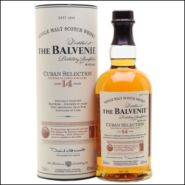 Balvenie 14 Year Old Cuban Selection 70cl 43%
