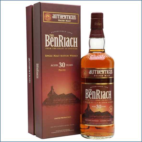 Benriach 30 Year Old Authenticus Peated Malt 70cl 46%