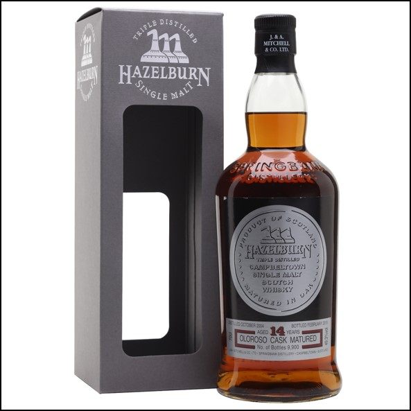 Hazelburn 14 Year Old Sherry Wood 2019 Campbeltown Single Malt Scotch Whisky 70cl 49.3%