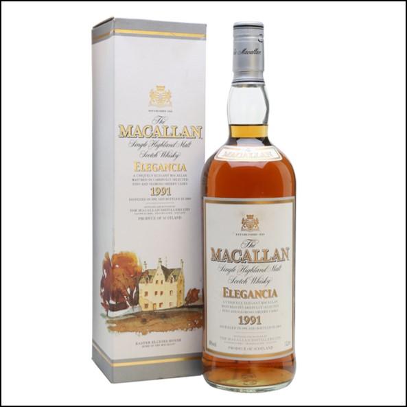 收購麥卡倫12年 ELEGANCIA 1991-圓瓶 /Macallan 1991 Elegancia Bot.2003 100cl 40%