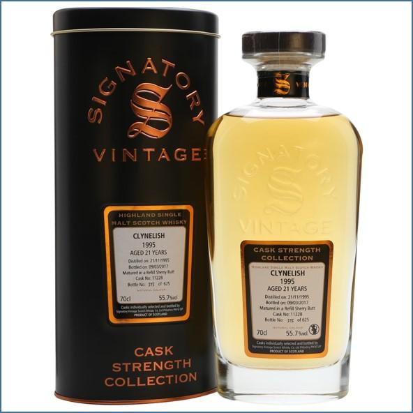 Clynelish 1995 21 Year Old 2017 Signatory Highland Single Malt Scotch Whisky 70cl 55.7%