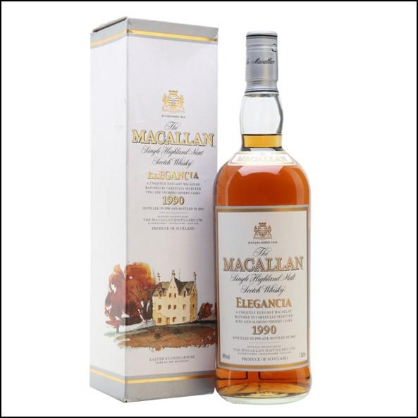 收購麥卡倫12年 ELEGANCIA 1990-圓瓶/Macallan 1990 Elegancia Bot.2002 100cl 40%