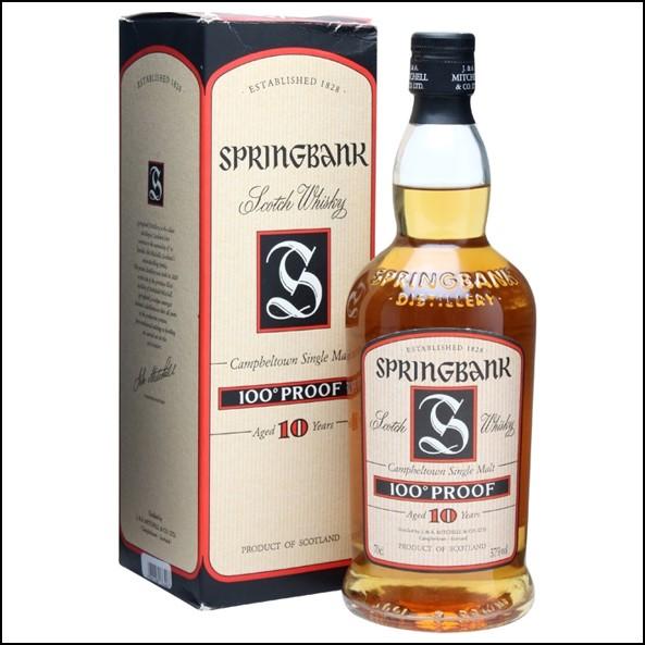 雲頂威士忌收購-Springbank 10 Year Old 100 Proof Campbeltown 70cl 57%