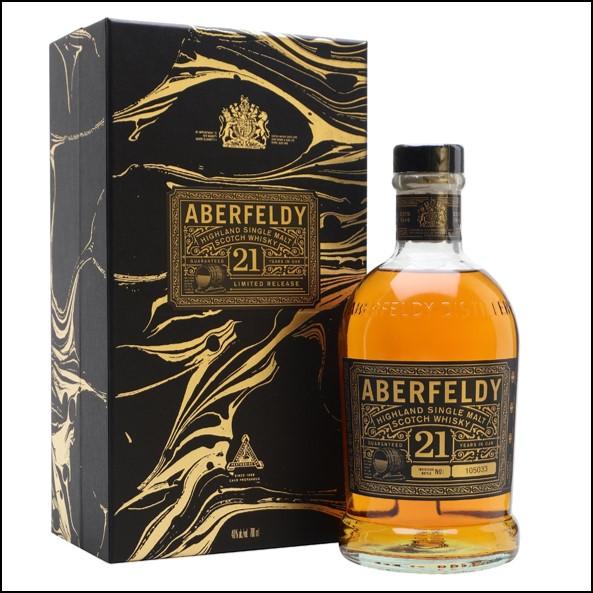 Aberfeldy 21 Year Old Festive Gift Box 70cl 40%  收購艾伯迪21年