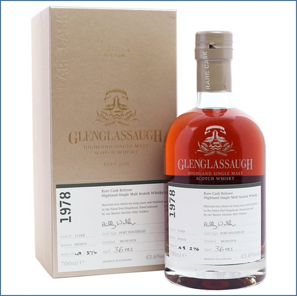 Glenglassaugh 1978 Cask #1118-8 36 year old Port Finish Rare Cask Release Batch 2 70cl 43.6%