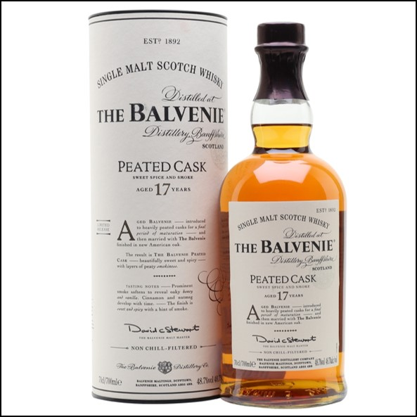 Balvenie 17 Year Old Peated Cask 70cl 48.7%