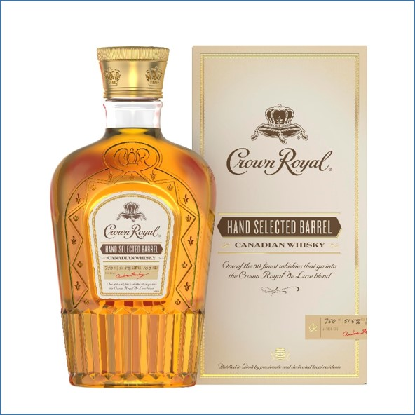 Crown Royal Hand Selected Barrel Canadian Whisky 75cl 51.5%