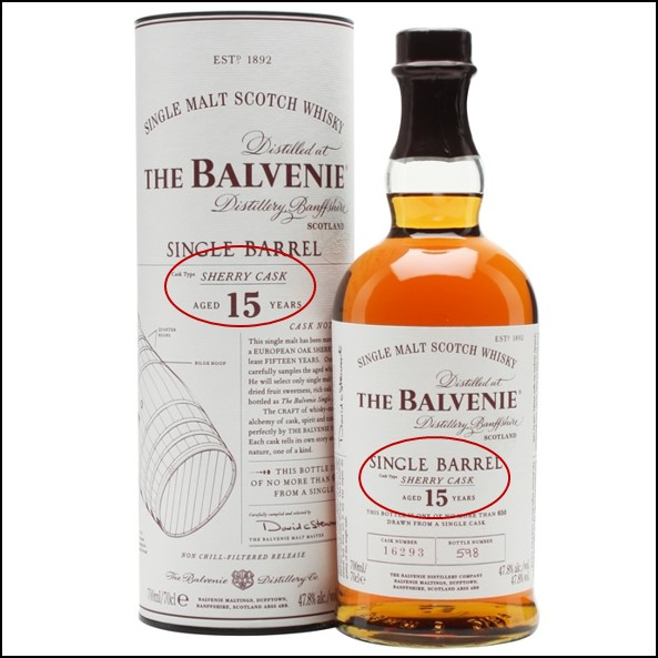 Balvenie 15 Year Old Single Barrel Sherry Cask 70cl 47.8%