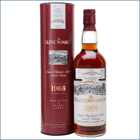 Glendronach 1968 25 Year Old Sherry Cask 75cl 43%