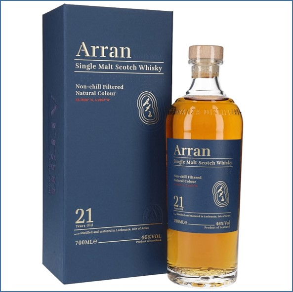 Arran 21 Year Old 2019 Relaunch 70cl 46%