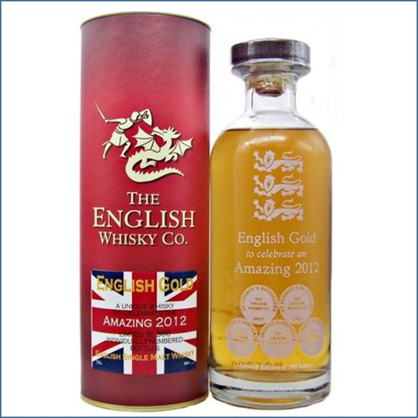 English Gold to celebrate an Amazing 2012 St Georges Single Malt Whisky 70cl 46%
