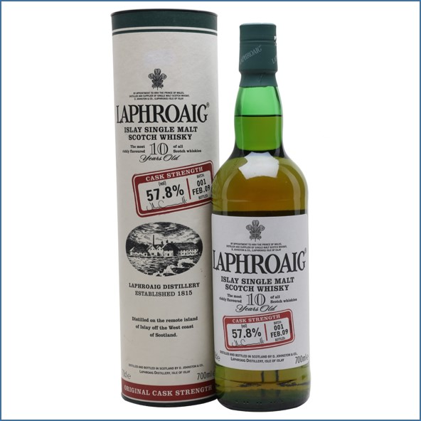 拉佛格10年原酒收購 Laphroaig 10 Year Old Cask Strength Batch 001 Bot.2009 70cl 57.8%