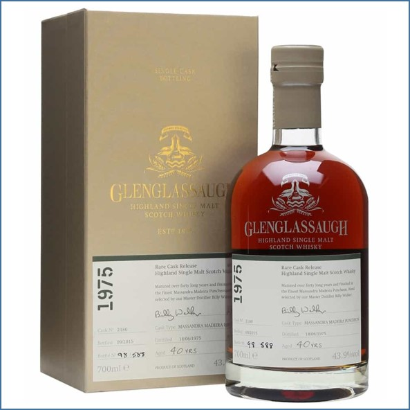 Glenglassaugh 1975 Cask No. 2180 40 Year Old Finished in Massandra Madeira Puncheon Rare Cask Release Batch 2 70cl 43.9%