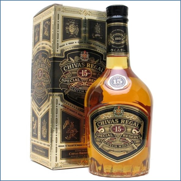 Chivas Regal 15 Year Old Blended Scotch Whisky 75cl 43%