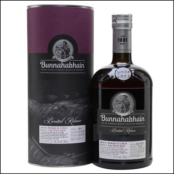 Bunnahabhain Mòine 2008 Bordeaux Red Wine Cask 70cl 58.1%